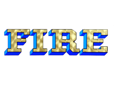 Gold Lettering for Fire Truck